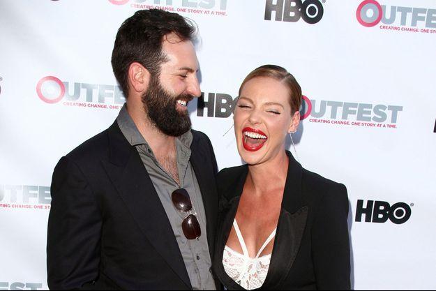 Katherine Heigl et son mari Josh Kelley à Hollywood en 2015