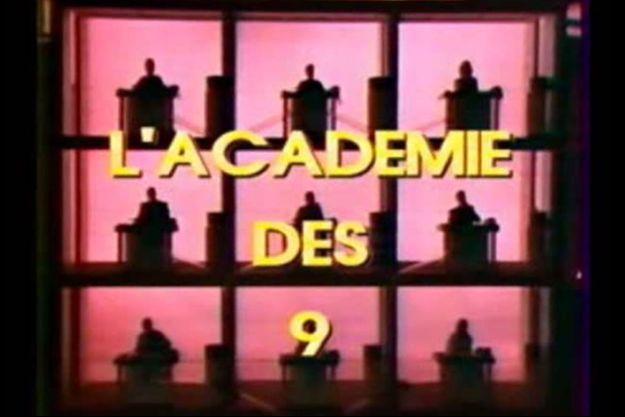 """Capture d'écran du générique original de l'""""Académie des 9""""."""