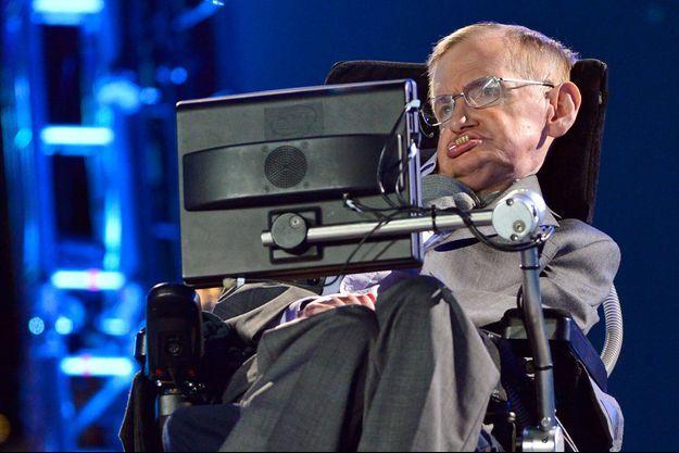 Stephen Hawking lors de la cérémonie d'ouverture des JO de Londres en 2012.