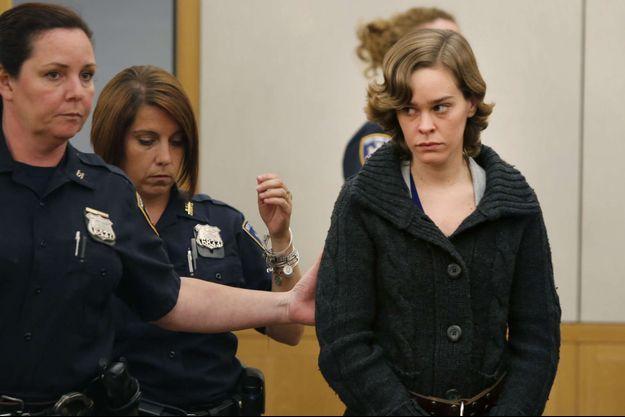 Lacey Smart devant le tribunal de Westchester mardi.