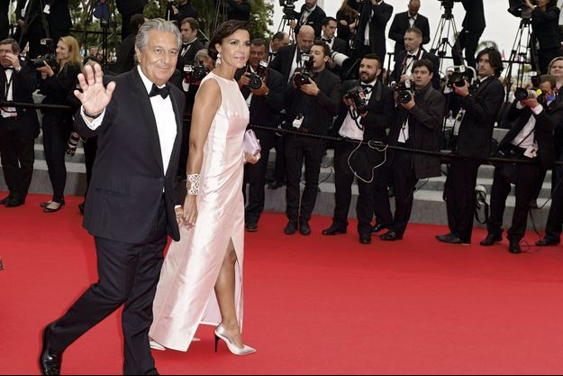 Le 22 mai, à Cannes, avec Isabelle de Araujo, sa compagne depuis 2004.