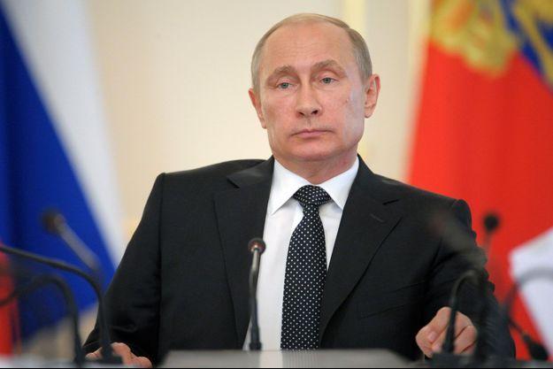 Vladimir Poutine lors d'un meeting le 11/06 dernier à Novo-Ogaryovo.