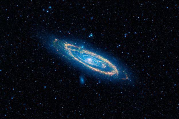 La galaxie Andromède capturée par l'infrarouge.