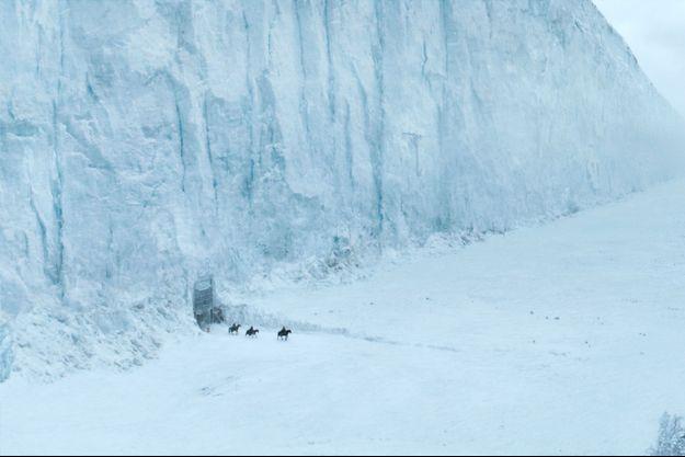 Le mur comme dépeint dans la série