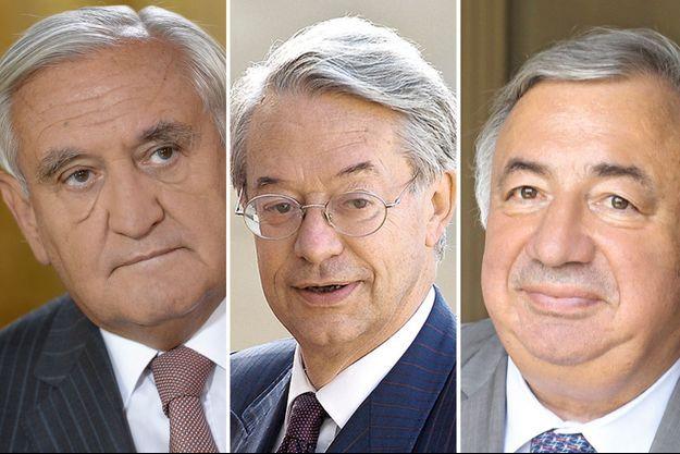 Jean-Pierre Raffarin, Philippe Marini, Gérard Larcher.