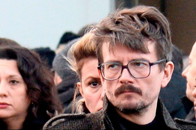 Luz à la cérémonie d'hommage à Charb, victime des attentats de janvier.