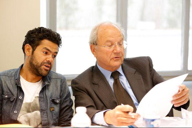 Jamel Debbouze et Marc de Lacharrière, le 15 mai 2013, lors de la première édition du prix de l'Audace artistique et culturelle, dont l'humoriste était président du jury.