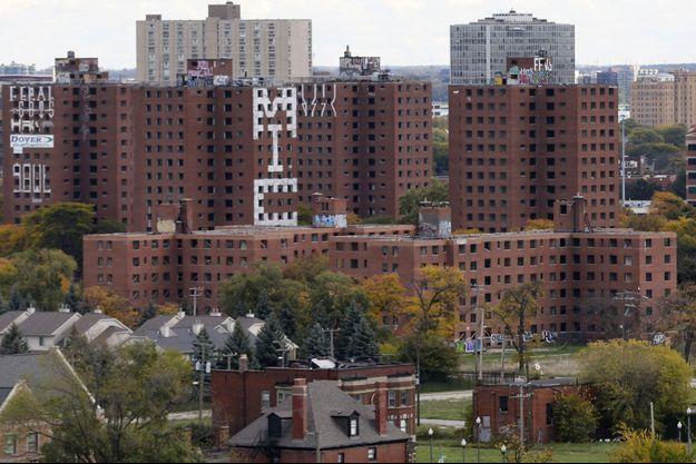 Les immeubles en ruine de Brewster-Douglass Housing Projects, à Detroit, où le corps de Bilal Berreni a été découvert en juillet 2013.