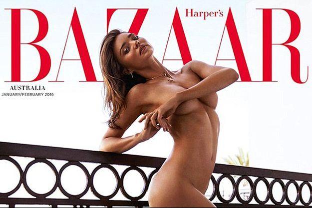 Le mannequin Miranda Kerr en couverture du magazine «Harper's Bazaar Australia» janvier/février 2016.