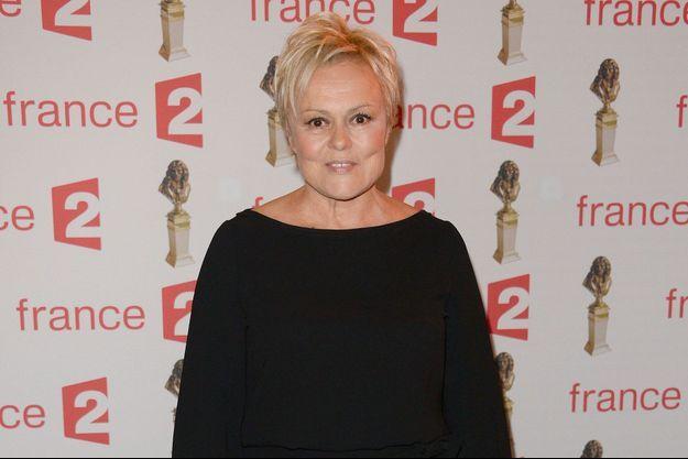 Muriel Robin à la 28ème nuit des Molières, aux Folies Bergère à Paris, 2016