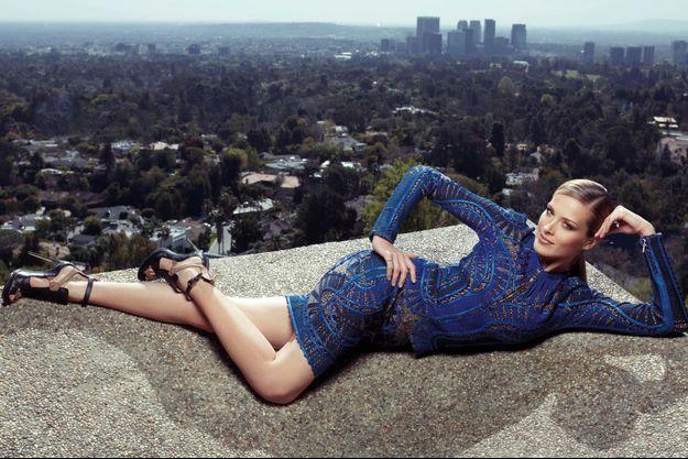 24 février 2013, le jour de la cérémonie des Oscars. Pas de tapis rouge pour Petra, mais une vue imprenable sur Beverly Hills.