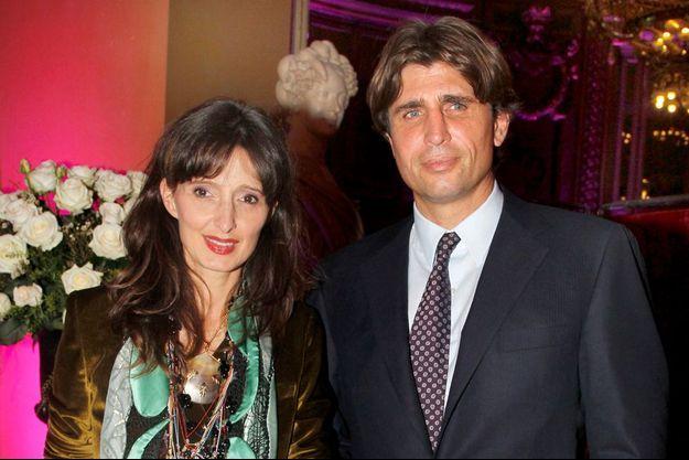 Philippe d'Ornano avec son épouse, Mina.