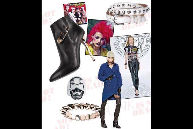 Le punk glam, celui des élégantes de l'avenue Montaigne, soucieuses d'être dévergondées mais pas trop…
