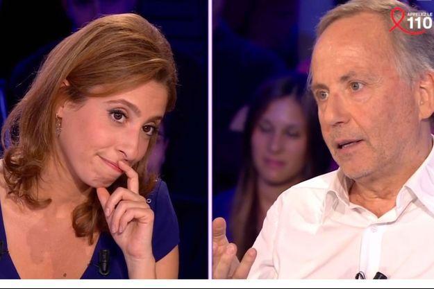 """Léa Salamé et Fabrice Luchini durant leurs échanges dans """"On n'est pas couché"""" samedi dernier."""