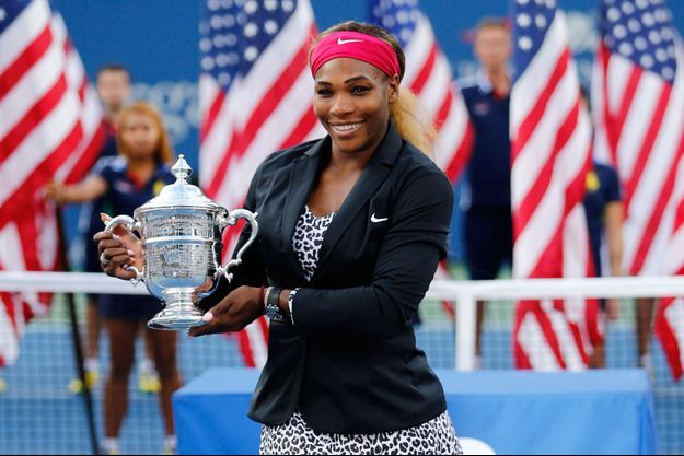 Serena Williams lors de la remise du trophée de l'US Open 2014.
