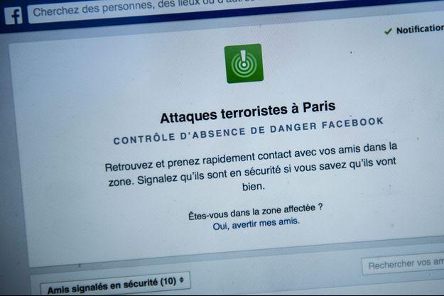 Le dispositif exceptionnel de Facebook lors des attentats de Paris en novembre.