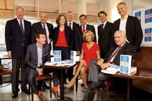 La famille UMP réunie mardi 8 septembre au café Concorde. (Voir légende détaillée en fin d'article)