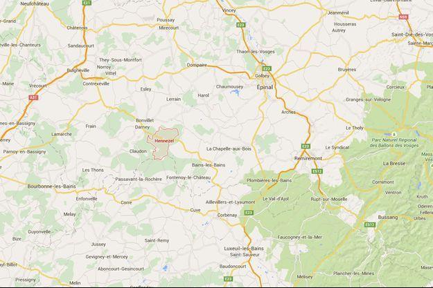 Hennezel, une commune de 400 âmes près d'Epinal dans les Vosges.