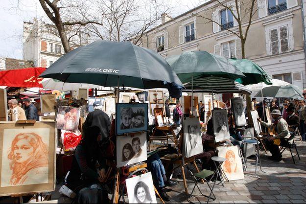 Depuis 30 ans, Pengseng Teo était installé sur la place du Tertre, à Montmartre.