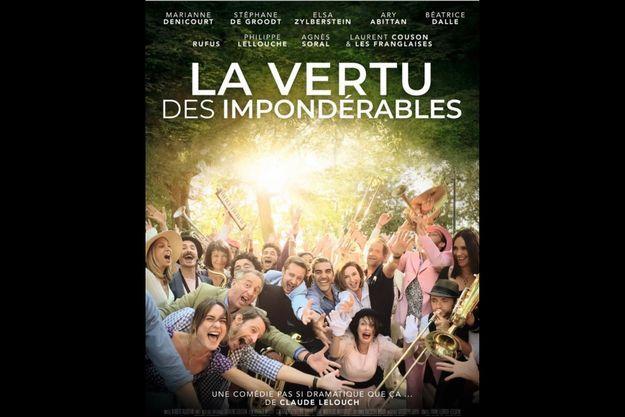 L'affiche du film « La vertu des impondérables » et ses acteurs, en diffusion en avant première sur Canal +