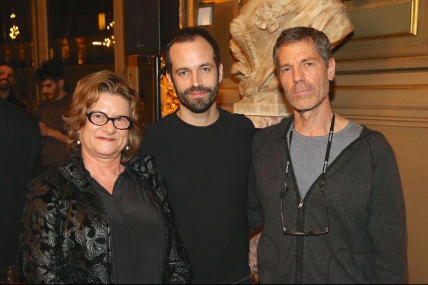 Dina Aldor, la directrice générale de la Batsheva Dance Company, Benjamin Millepied et Ohad Naharin.