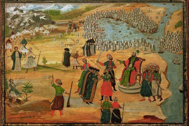 Prise de Constantinople par les Ottomans sous le règne du sultan Mehmed II Fatih, le 29 mai 1453.
