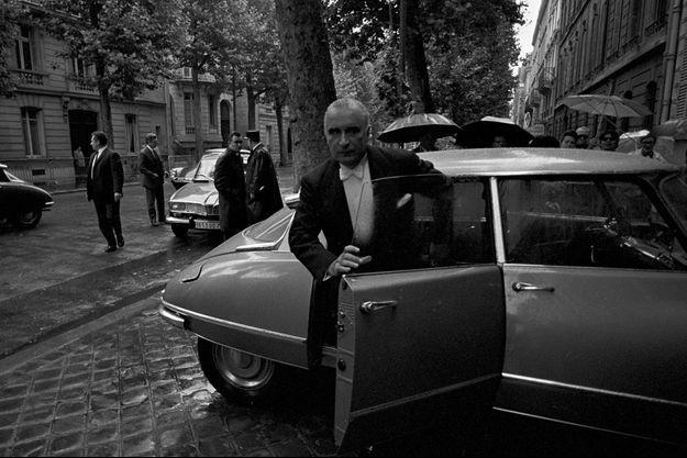George Pompidou le 20 juin 1969 lors de la passation de pouvoir avec le général de Gaulle.