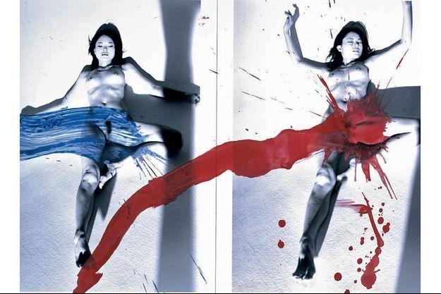« Diptyque : amour de Kaori », 2007, 55,9 x 91,4 cm.