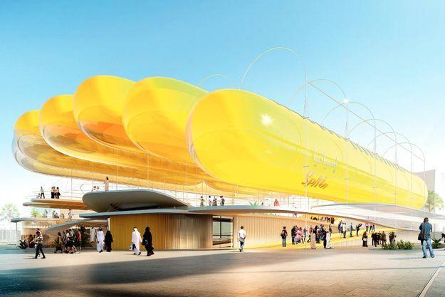 Le pavillon espagnol conçu pour l'Exposition universelle Dubaï 2022 affiche un bilan carbone zéro grâce aux panneaux photovoltaïques.