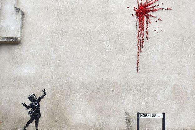La dernière oeuvre de Banksy, à Bristol, le 13 février.