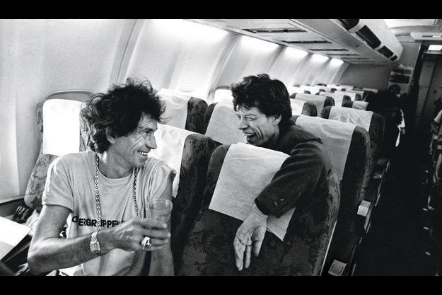 Keith Richards et Mick Jagger (1990).