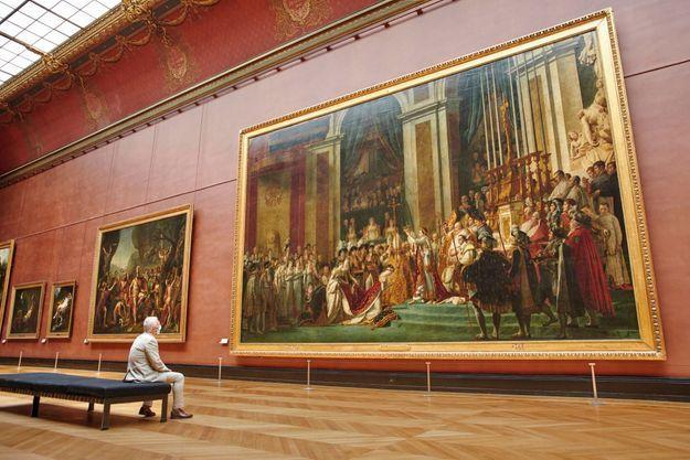 « Le sacre » de David que le Louvre héberge depuis 1808.