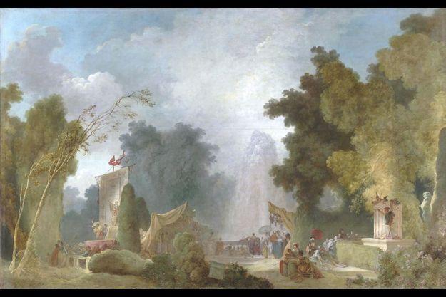 """""""La Fête à Saint-Cloud"""" Jean-Hororé Fragonard"""