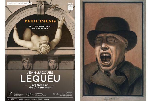 """L'affiche de l'exposition au Petit Palais. A droite, """"Le grand baailleur"""""""