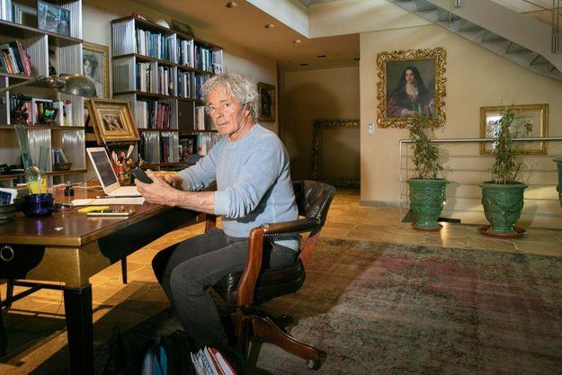 Giuliano Ruffini le 4 février dans son bureau, dans sa villa en Emilie Romagne