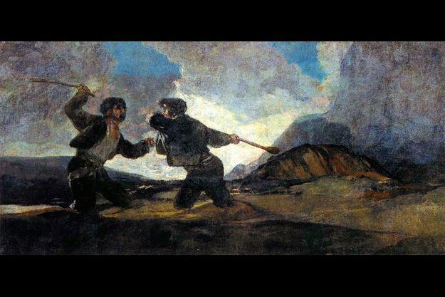 Goya : « Deux hommes qui luttent», circa 1819.