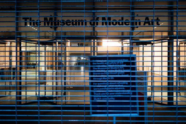 Le MoMa de New York, fermé aux visiteurs.