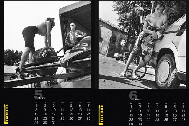 Antonia Dell'Atte, Betty Prado... Les tops du calendrier Pirelli 1986 par Helmut Newton.