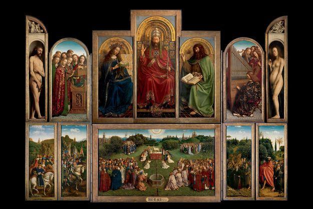 « L'adoration de l'Agneau mystique », 1432.