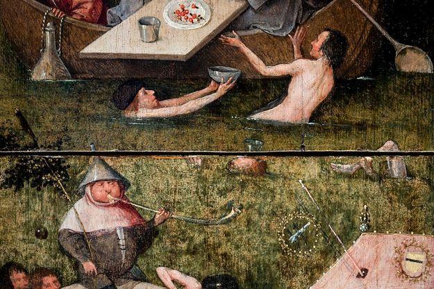 « LA NEF DES FOUS » Vers 1490-1510. Détail, musée du Louvre. « ALLÉGORIE DE LA DÉBAUCHE ET DU PLAISIR » Vers 1490-1500. Détail, Art Gallery de l'université Yale.