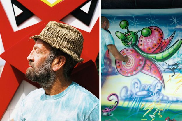 Kenny Scharf dans ses oeuvres.