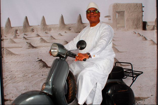 Le président Ibrahim Boubacar Keïta, alors Premier ministre du Mali, en marge des 2èmes Rencontres de Bamako en 1995
