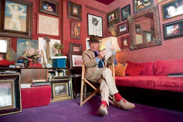 David Hamilton chez lui à Montparnasse.