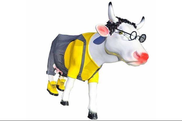 """La """"Cow-Luche"""", signée Mathilde de l'Ecotais, sera la pièce majeure de la vente aux enchères."""