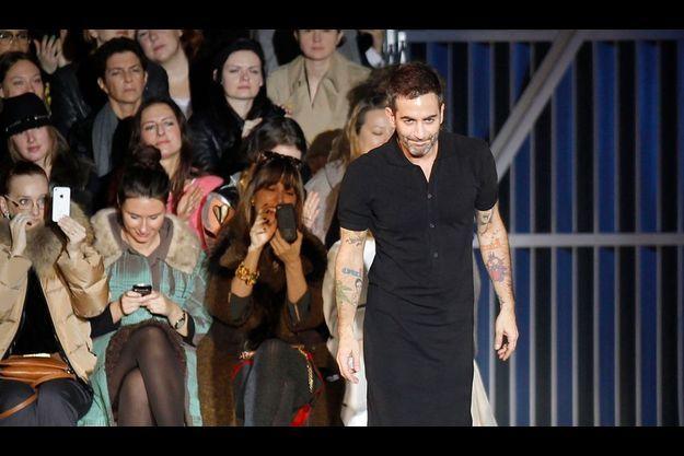 Mark Jacobs, le 7 mars, après le défilé Louis Vuitton.