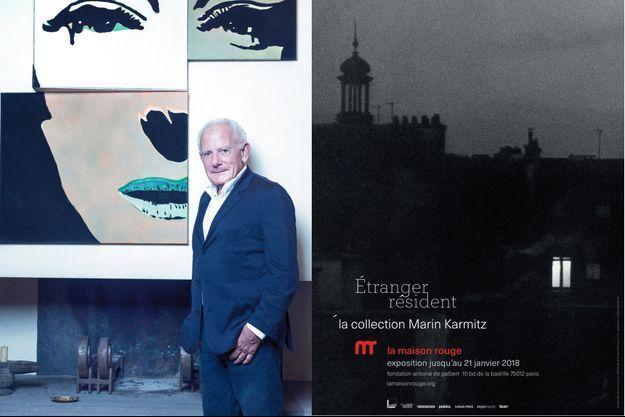 A g., « Portrait à géométrie variable, deuxième possibilité », de Martial Raysse (1966). A d., l'affiche de l'exposition.
