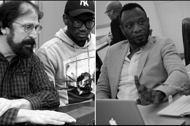 A gauche, James Estrin (Lens Blog, New York Times). A droite, Azu Nwagbogu, Directeur du Lagos Photo Festival , Nigéria.