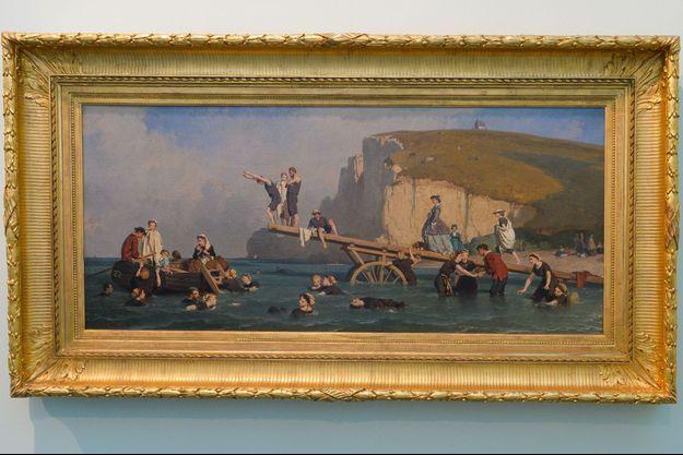 « Baignade à Etretat », 1860