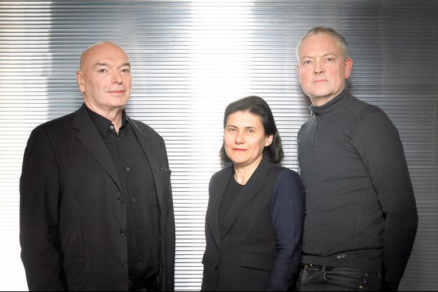 De g. à dr. : Jean Nouvel, Dominique Jakob et Brendan MacFarlane.
