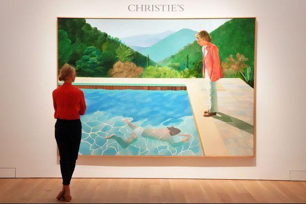 """""""Portrait of an Artist (Pool with two figures)"""" a été mis aux enchères par Christie's."""
